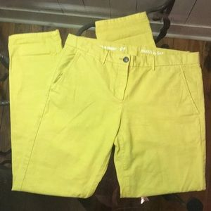 Khakis by Gap Size 4 04 Broken-in Straight Yellow
